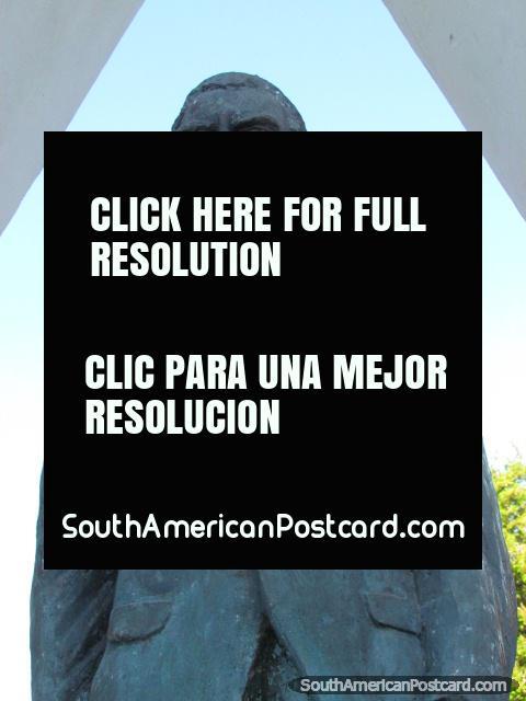 Gilberto Cortez Millares monument in Villazon, mayor. (480x640px). Bolivia, South America.