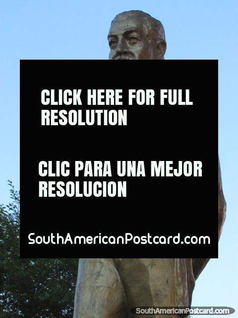 Eliodoro Villazon (1848-1939) monument in Villazon, ex-president. (480x640px). Bolivia, South America.