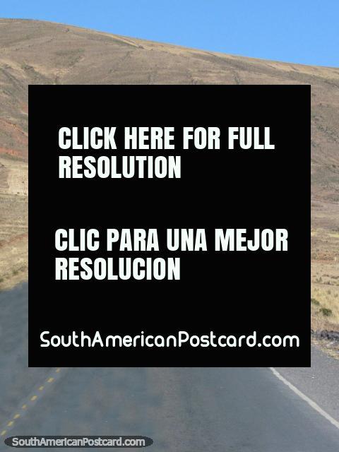 Highway 1 between La Paz and Desaguadero. (480x640px). Bolivia, South America.