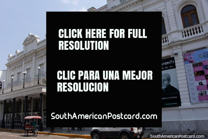 The cultural house and theatre beside the Plaza Principal in Santa Cruz. (720x480px). Bolivia, South America.