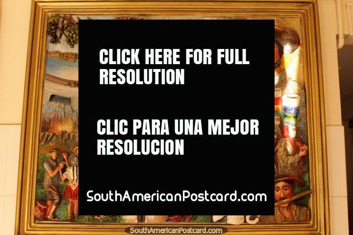Beautiful artwork depicting the local culture of Tarija. (720x480px). Bolivia, South America.