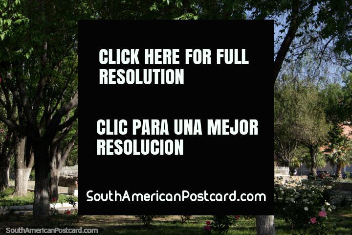 A military monument in a park in Tarija. (720x480px). Bolivia, South America.