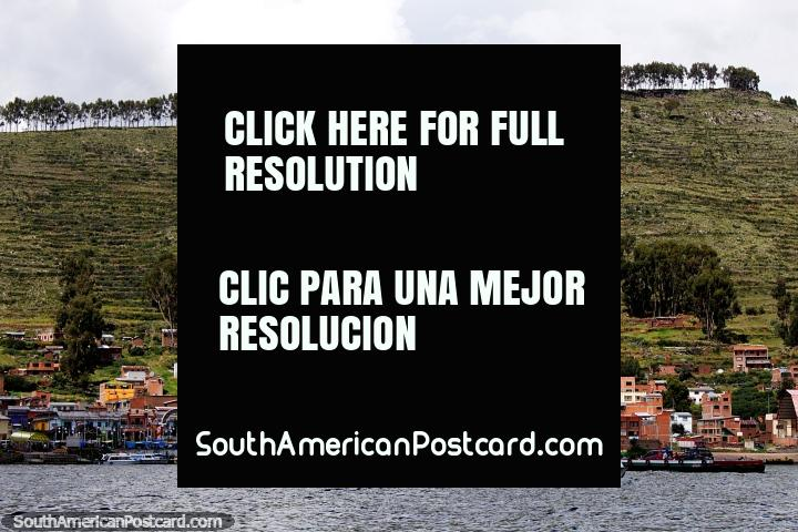 San Pablo de Tiquina on the side of the Tiquina strait of La Paz. (720x480px). Bolivia, South America.