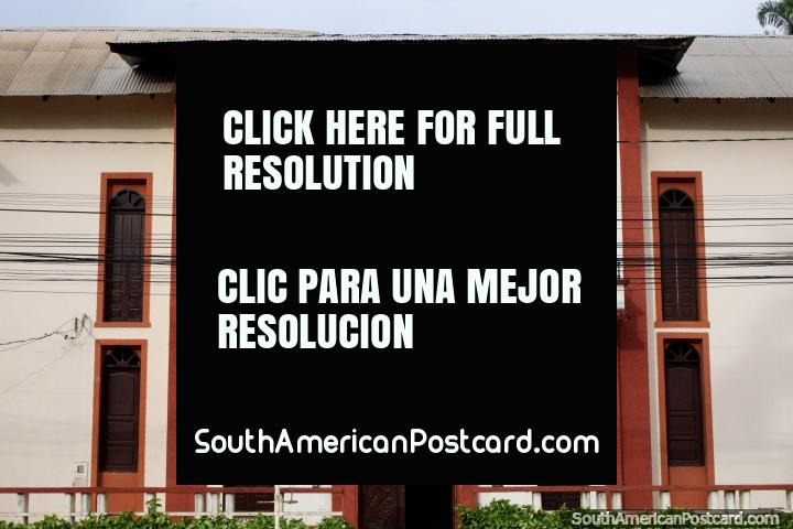 Club Social Progreso (1919), the social club building beside the plaza in Riberalta. (720x480px). Bolivia, South America.
