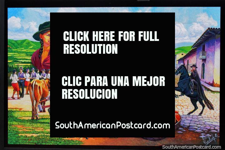 Valleys of Santa Cruz by Carlos Cirbian, a series of paintings by a master painter born in Santa Cruz. (720x480px). Bolivia, South America.