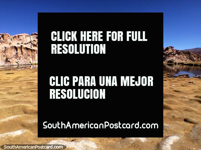 Prehistoric landscape at Black Lagoon, I wonder if dinosaurs once lived here, the Uyuni desert. (640x480px). Bolivia, South America.