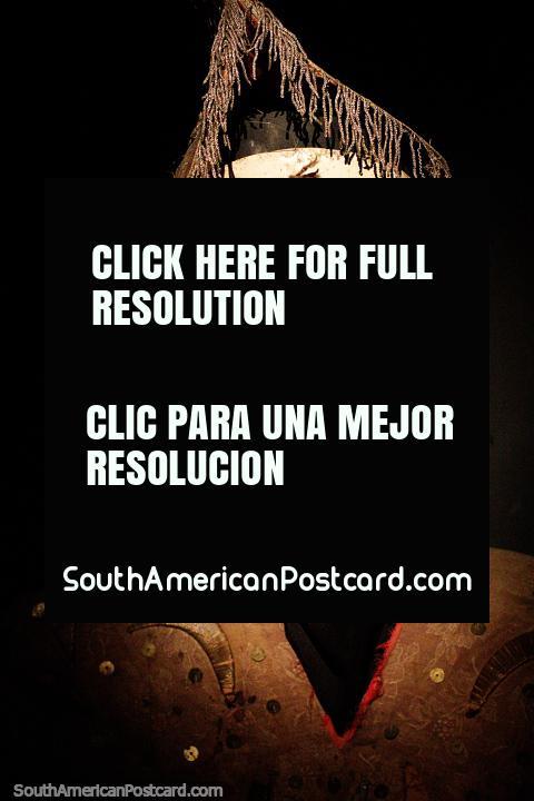 Llamero, mask from the La Paz region, plaster and animal fiber, Musef museum, La Paz. (480x720px). Bolivia, South America.