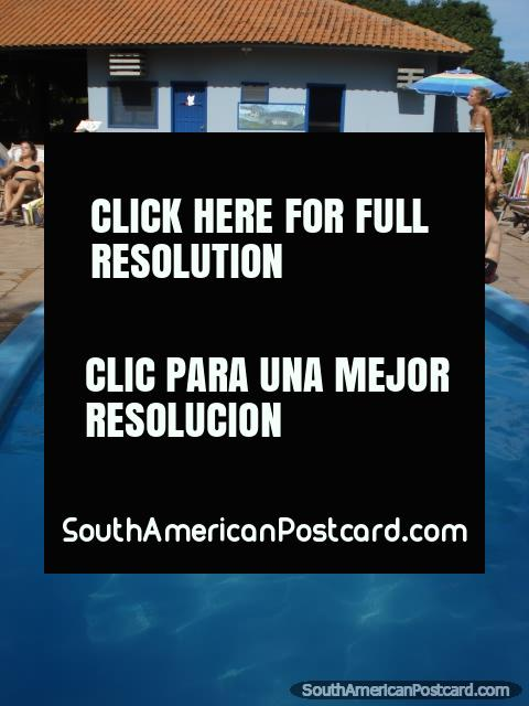 The swimming pool at Santa Clara, Pantanal. (480x640px). Brazil, South America.