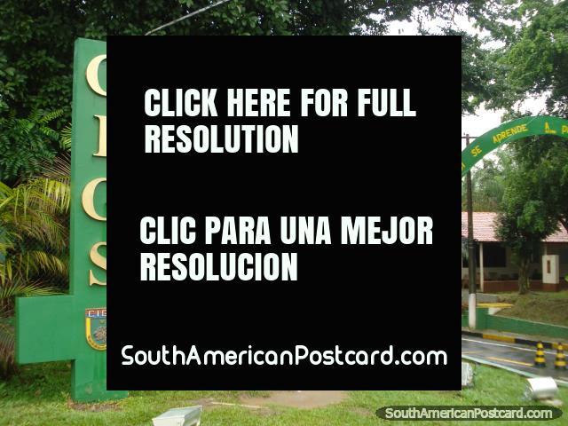 La entrada a Zooilógico CIGS en Manaus. (640x480px). Brasil, Sudamerica.