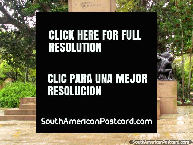 The foundation monument at Plaza Xavier Ferreira in Rio Grande. (640x480px). Brazil, South America.