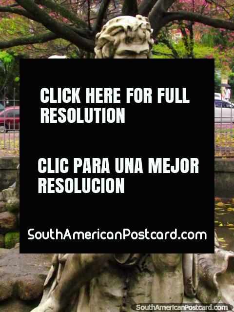 A bearded male artwork at Park Independencia in Porto Alegre. (480x640px). Brazil, South America.