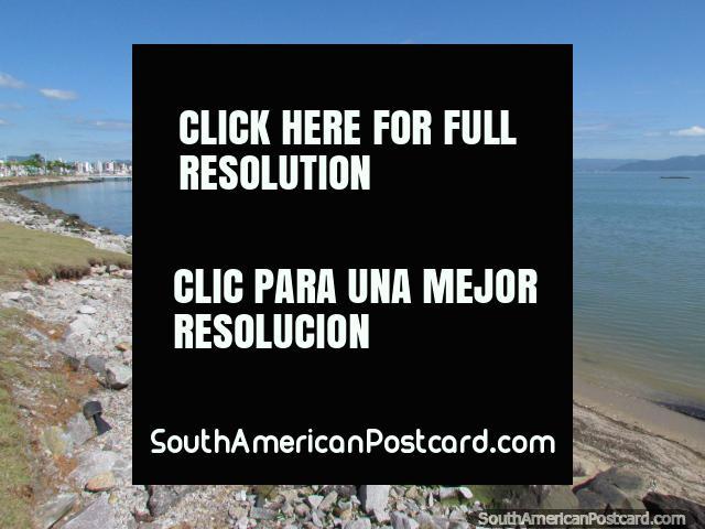 Beautiful sea scene beside a beach in Florianopolis. (640x480px). Brazil, South America.