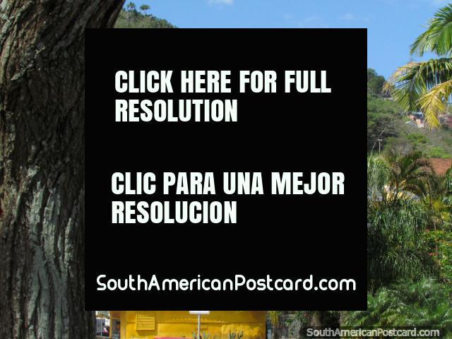 El hospital amarillo en la colina en Florianopolis. (640x480px). Brasil, Sudamerica.