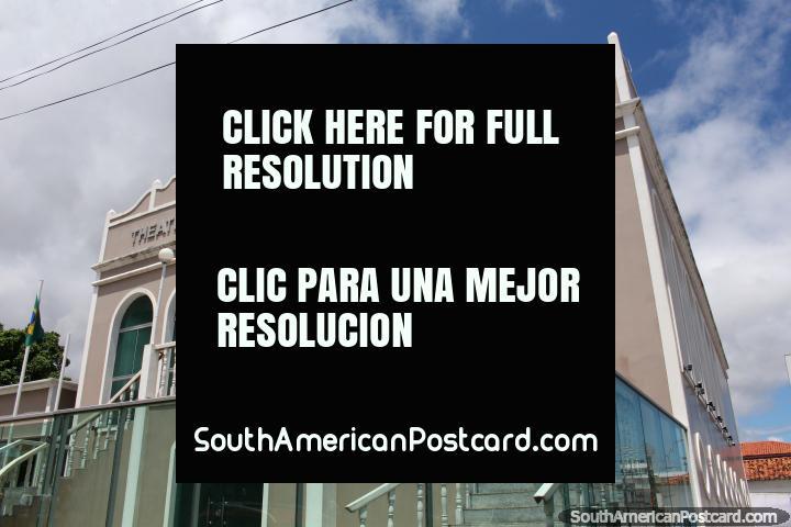 Teatro Municipal de Victoria, el teatro en Santarem, edificio histórico. (720x480px). Brasil, Sudamerica.