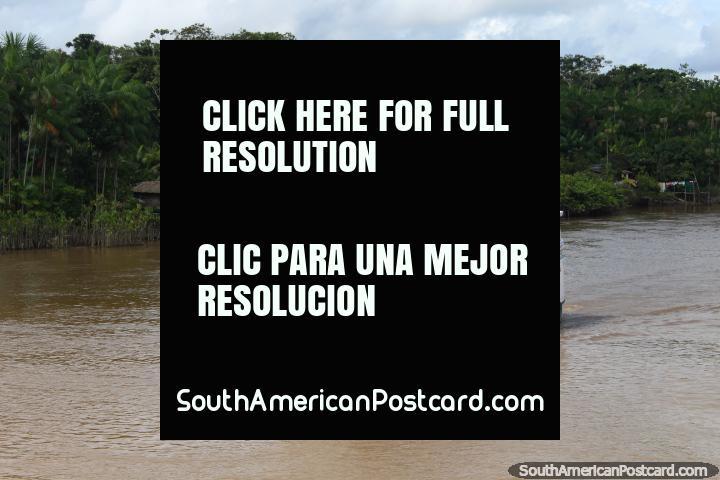 Santo Antonio de Cameta, a ferry on the Parauau River north of Breves. (720x480px). Brazil, South America.