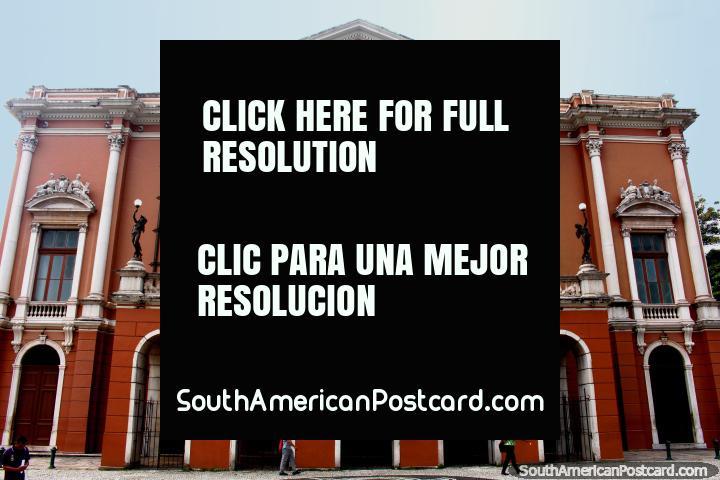 Prestigious theatre in Belem - Teatro da Paz. (720x480px). Brazil, South America.