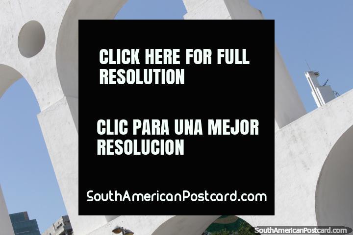 Arcos da Lapa, arcos blancos en Río de Janeiro. (720x480px). Brasil, Sudamerica.