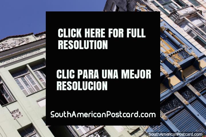 Old buildings have nice facades, around Lapa in Rio de Janeiro. (720x480px). Brazil, South America.