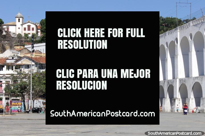 Los famosos Arcos de Lapa, arcos blancos en Río de Janeiro. (720x480px). Brasil, Sudamerica.