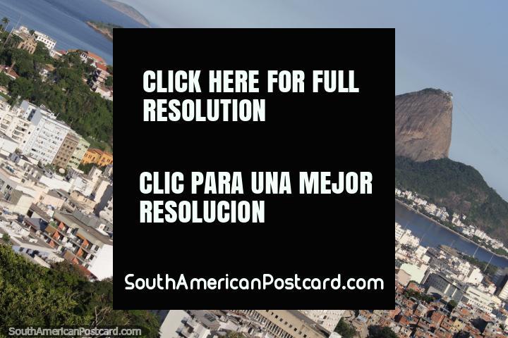 As visões de Rio de Janeiro são fantásticas do Parque de Ruïnas (Parque das Ruinas) em Santa Teresa. (720x480px). Brasil, América do Sul.