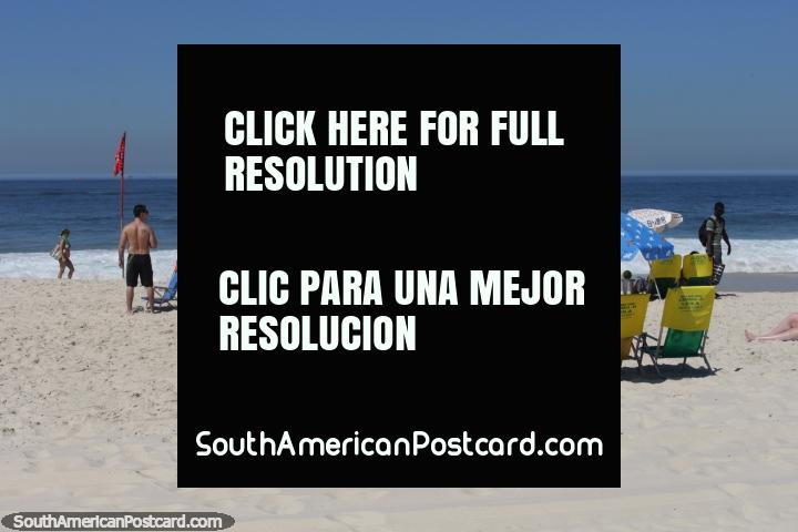 Nada menos que a praia de Copacabana, a praia famosa do Rio de Janeiro. (720x480px). Brasil, América do Sul.