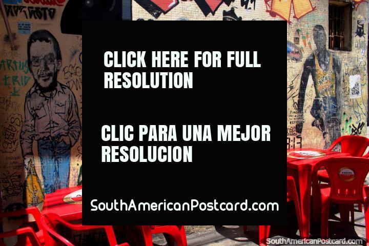 The Ramones, an American punk rock band, wall art in Vila Madalena, Sao Paulo. (720x480px). Brazil, South America.