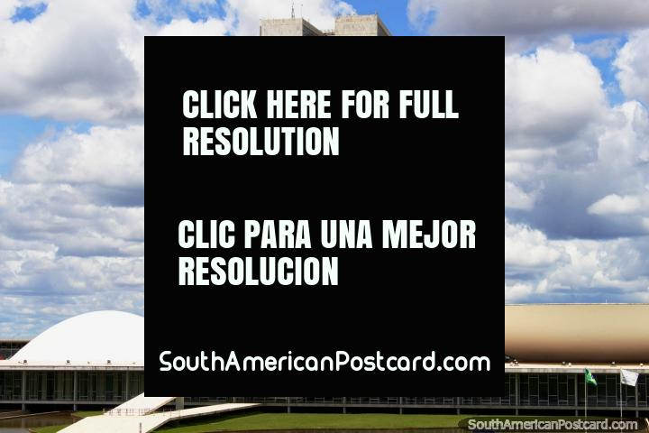 The government buildings in the futuristic capital of Brazil - Brasilia. (720x480px). Brazil, South America.