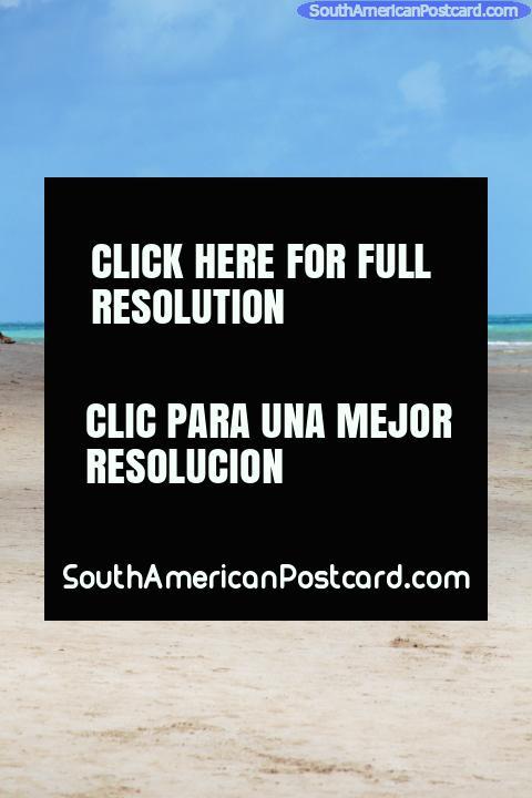 3 young women walking along the beach in Maragogi, white sands. (480x720px). Brazil, South America.