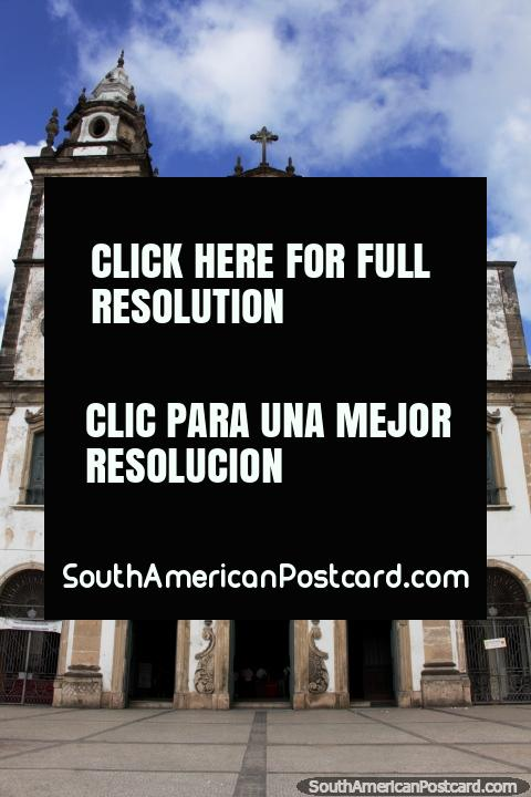 Basílica do Carmo, terminada en 1767, construida en estilo Barroco, Recife. (480x720px). Brasil, Sudamerica.