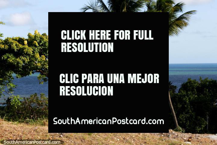 Visão fora ao Oceano Atlântico da costa de Olinda, belo! (720x480px). Brasil, América do Sul.