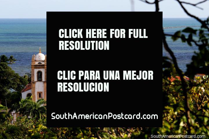 Iglesia de San Antonio de Carmo comenzó la construcción en 1580, se encuentra cerca del mar en Olinda. (720x480px). Brasil, Sudamerica.