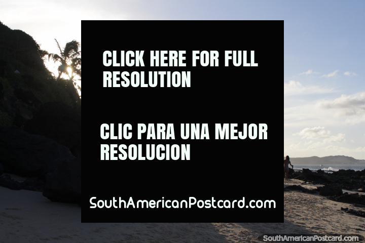 The sun begins to go down over Pipa Beach. (720x480px). Brazil, South America.