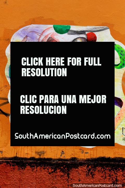 Mural fantástico de 8 caras em cores diferentes em São Luis. (480x720px). Brasil, América do Sul.