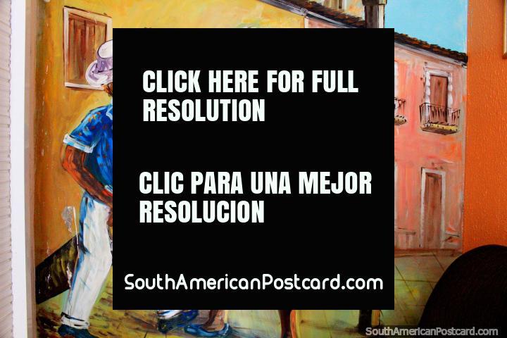 Um mural excepcional de bailarinos que dançam nas ruas em São Luis. (720x480px). Brasil, América do Sul.