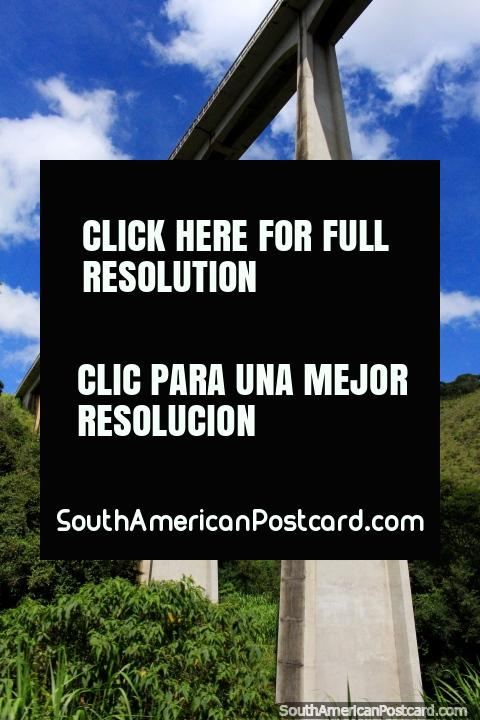 The rail bridge in all its glory above the road to Ouro Preto! (480x720px). Brazil, South America.