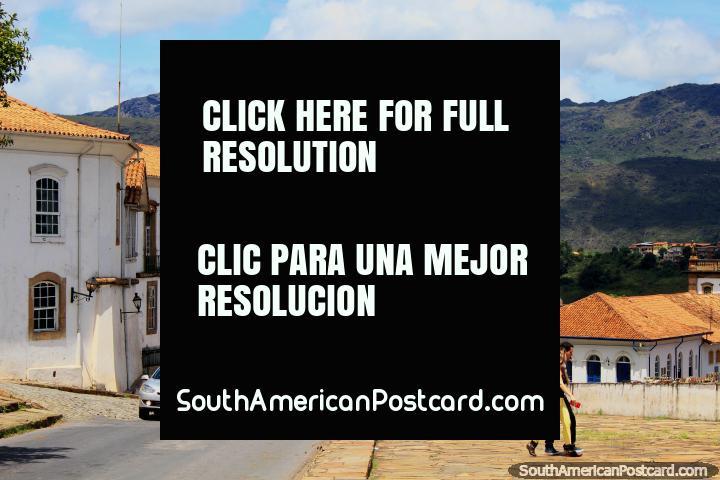 O Museu de Ciência outrora o Palácio de governadores em Ouro Preto. (720x480px). Brasil, América do Sul.