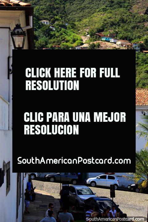 The architecture, lanterns and hills of Ouro Preto. (480x720px). Brazil, South America.