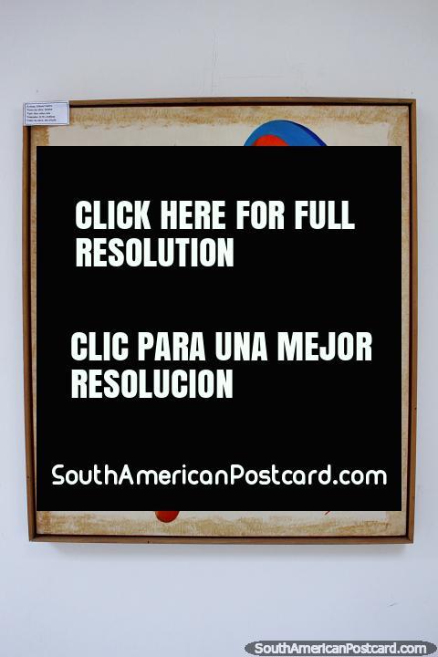Serena, mujer de color rojo con pelo azul, Gilson Castro, exposición en el Palacio Vargas en Porto Velho. (480x720px). Brasil, Sudamerica.