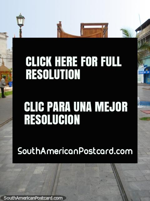 Baquedano tram line, Iquique. (480x640px). Chile, South America.