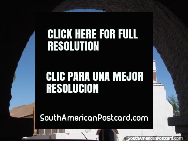 The San Pedro church, view through an archway. (640x480px). Chile, South America.