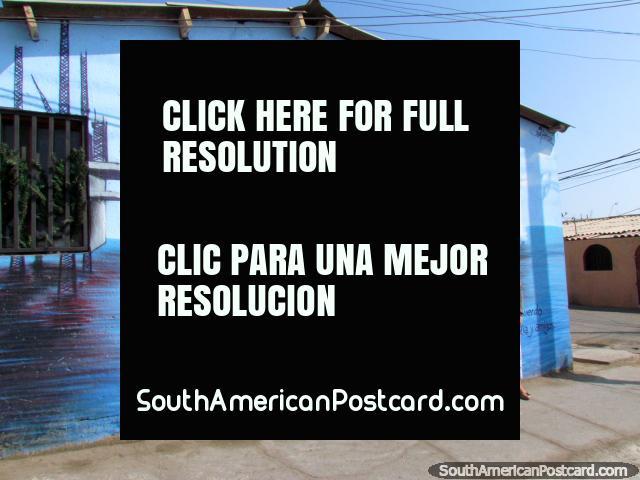 Juan Ceballos Rivera, a musician, mural in Antofagasta. (640x480px). Chile, South America.