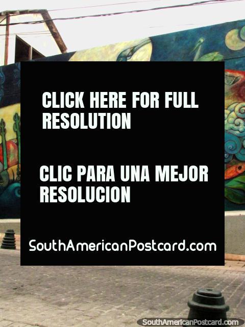 Descrevendo a história de Coquimbo, 'El Mural' é uma visão que vale a pena ver. (480x640px). Chile, América do Sul.