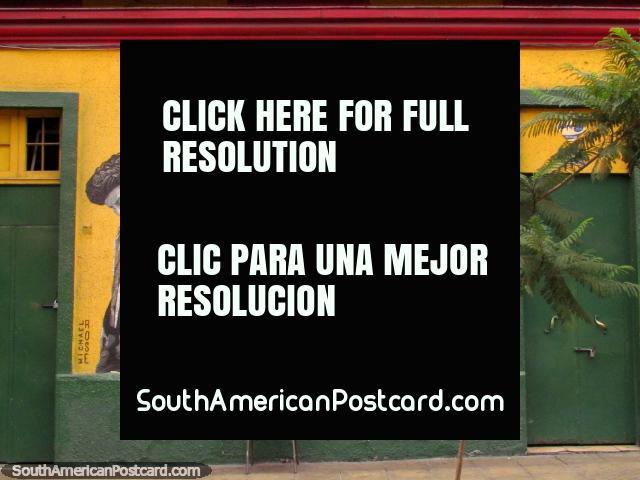 Michael Rose y Bob Marley, murales en los paredes en Bellavista, Santiago. (640x480px). Chile, Sudamerica.