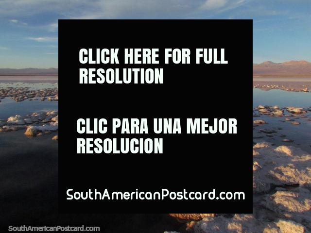 Amazing terrain, nature at its best, sunset at the lagoon at San Pedro de Atacama. (640x480px). Chile, South America.