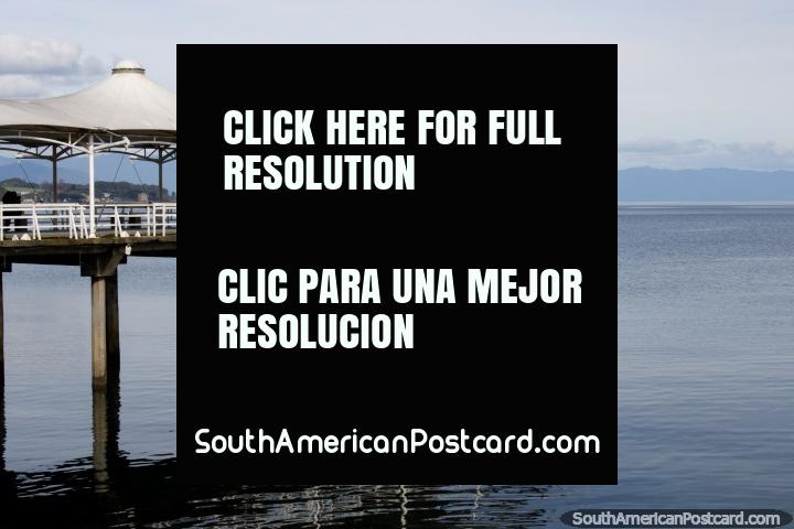 The pier out into the sea on the waterfront of Puerto Montt, gateway city. (720x480px). Chile, South America.