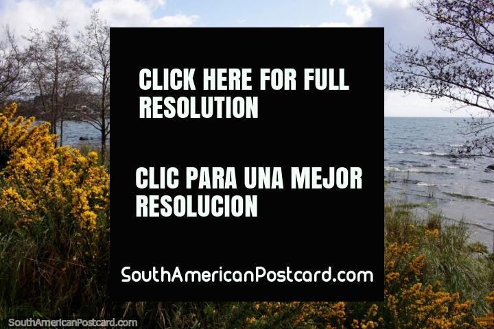 O lago Llanquihue em Porto Varas é um grande sorteio no horário de verão de atividades e excursionistas. (720x480px). Chile, América do Sul.
