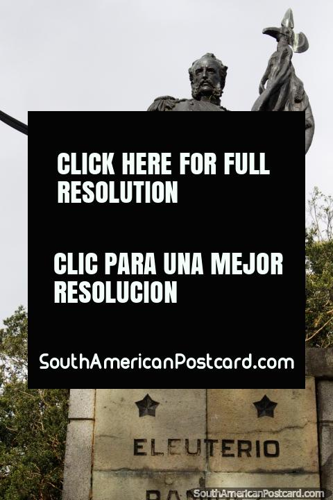 Eleuterio Ramirez (1837-1879), Chilean military figure, monument in Osorno. (480x720px). Chile, South America.