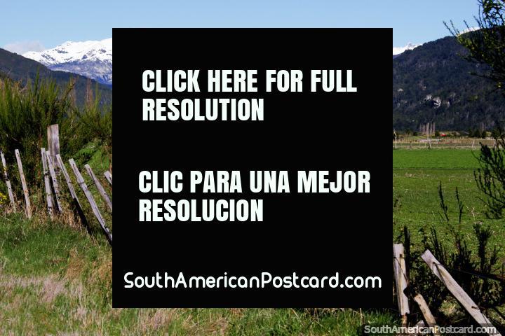 El paisaje es hermoso en Futaleufú y en el campo alrededor del pueblo. (720x480px). Chile, Sudamerica.