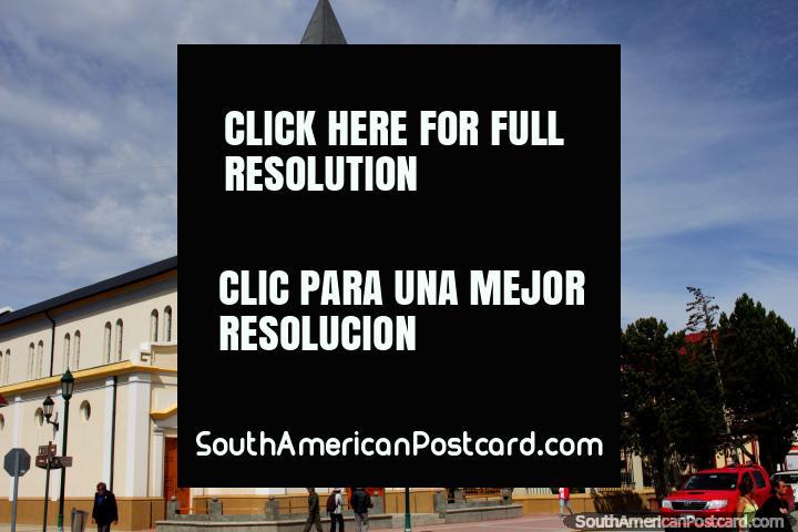 Church - Parroquia Maria Auxiliadora in Puerto Natales. (720x480px). Chile, South America.