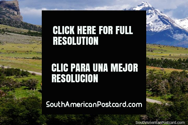 Beautiful countryside, mountains and terrain between Puerto Natales and Villa Cerro Castillo. (720x480px). Chile, South America.